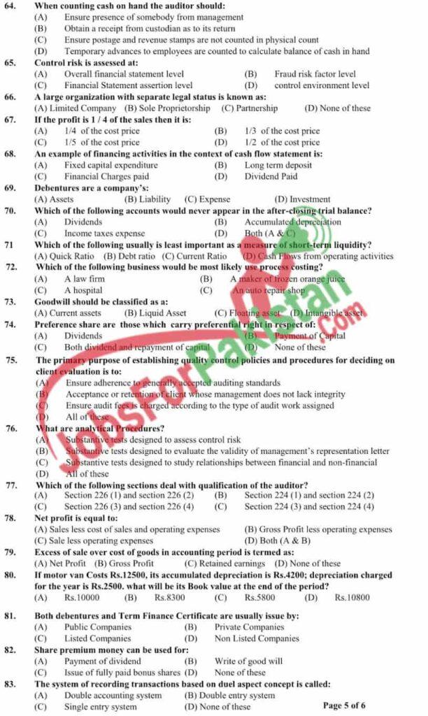 FPSC Inspectors past papers