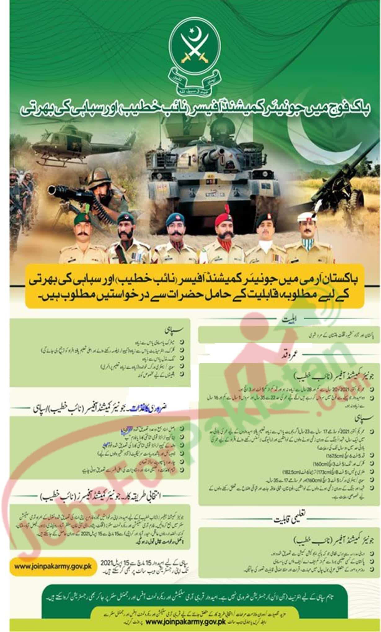 Pakistan Army new Vacancies 2021